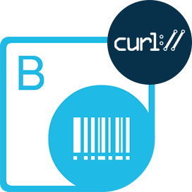 cURL commands to access API for Barcode generation and Recognition